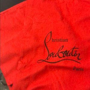 Christian Loubouiton dust bags